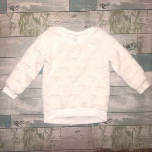 Children's Place Toddler Girls White Sweater 4T